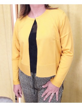 Cardigan giallo element 2
