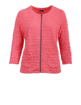 Cardigan coral beach con zip
